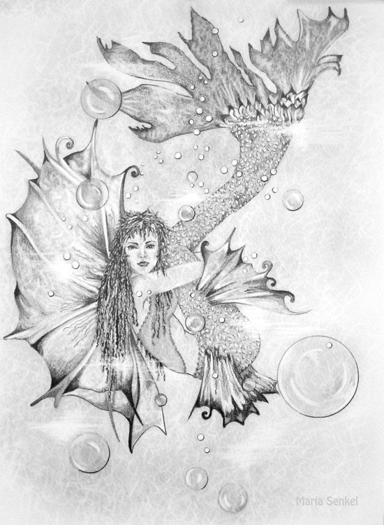 Fairy of the water - Syrinx Art Print