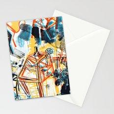 yellowredblueandblack Stationery Cards