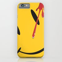 iPhone Cases featuring Who watches the watchmen?  by studio VII