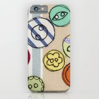 iPhone & iPod Case featuring Embroidered Button Illustration by Lizzie Searle