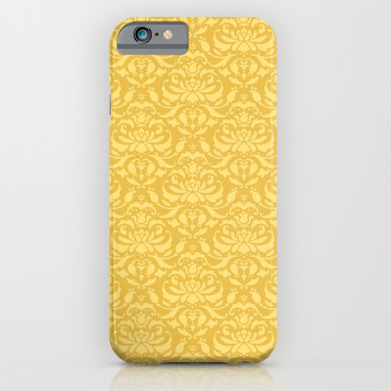 Cloud Factory Damask - Polished Brass iPhone & iPod Case