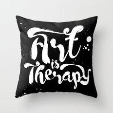 Art is Therapy Throw Pillow