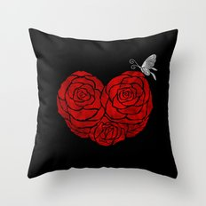 A Butterfly to be, a Rose to blossom... Throw Pillow