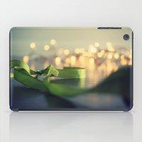 Christmas Ribbon Bokeh iPad Case