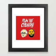 Run The Country Framed Art Print