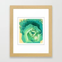 Lions Are Scared of Bugs Too Framed Art Print