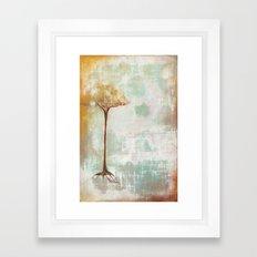 the hard line Framed Art Print