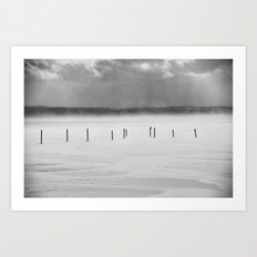 Lake Posts in February Canandaigua Lake Art Print