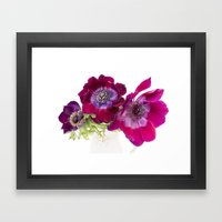 Anemone Trio Framed Art Print
