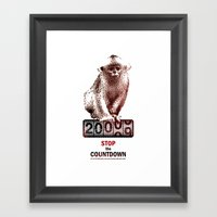 Save Golden Monkeys Framed Art Print