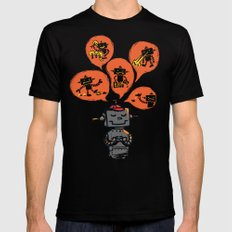 When I grow up - an evil robot dream SMALL Mens Fitted Tee Black