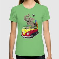 Pack the Trunk (colour) Womens Fitted Tee Grass SMALL