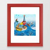 Regatta Duck Sailing Swi… Framed Art Print