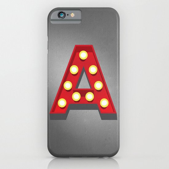 A - Theatre Marquee Letter iPhone & iPod Case