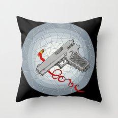 BANDIT LOVE Throw Pillow