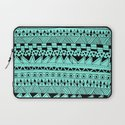Fun - Black and Mint Laptop Sleeve