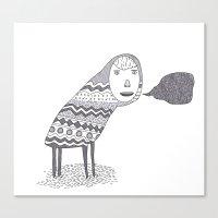 (A Wuggie) Canvas Print
