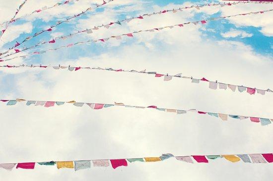 prayer flags no. 1 Art Print