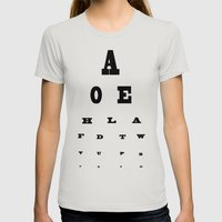 Eye Test Womens Fitted Tee Silver SMALL