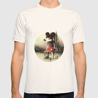Mickey's Kingdom Mens Fitted Tee Natural SMALL