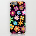 Spring Flowers Colorful Naif Design iPhone & iPod Case