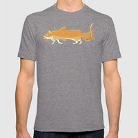 Catfish Mens Fitted Tee Tri-Grey SMALL