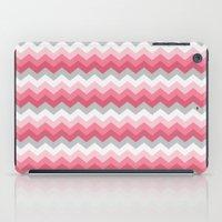 Chevron Pink & Grey iPad Case