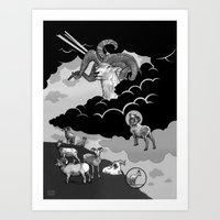 Goat Mountain / The Birth of Light Art Print