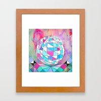 In Space. Framed Art Print