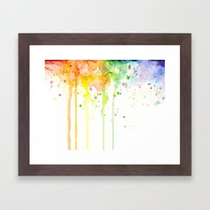 Watercolor Rainbow Framed Art Print