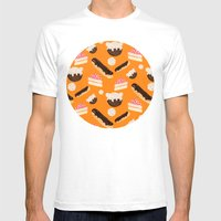 sweet things (on orange) Mens Fitted Tee White SMALL