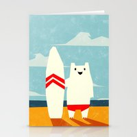 surf Stationery Cards featuring Surf! by Yetiland