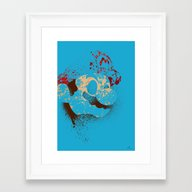 The Red Knight Framed Art Print