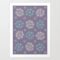 Lilac Clusters Art Print