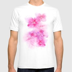 Light and shade White SMALL Mens Fitted Tee