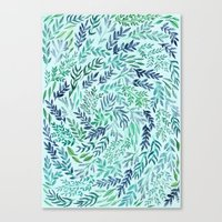 Wild Scattered Branches Canvas Print