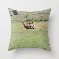 Rolling Horse Throw Pillow