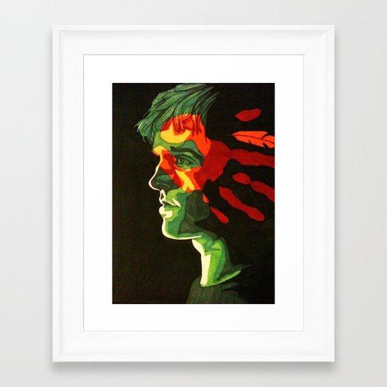 War Paint Framed Art Print