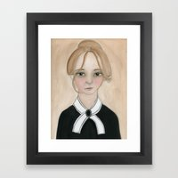 Miss Charlotte Framed Art Print