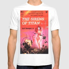 Vonnegut -  The Sirens of Titan Mens Fitted Tee White SMALL