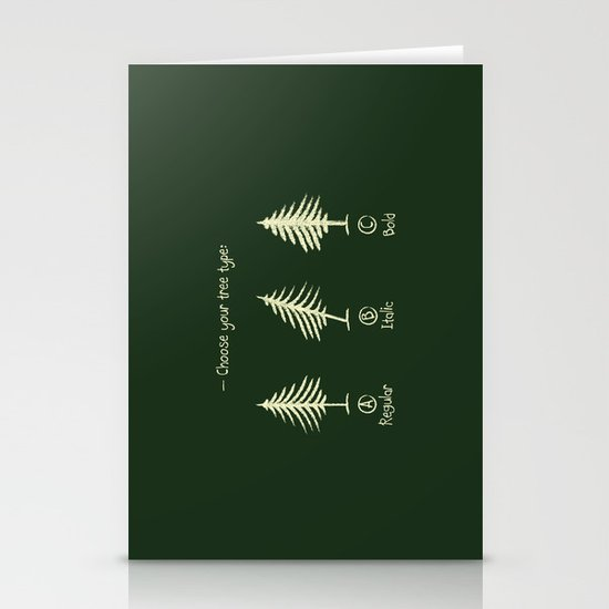 choose your tree type Stationery Card