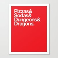 Dungeons & Dragons & Swag Canvas Print