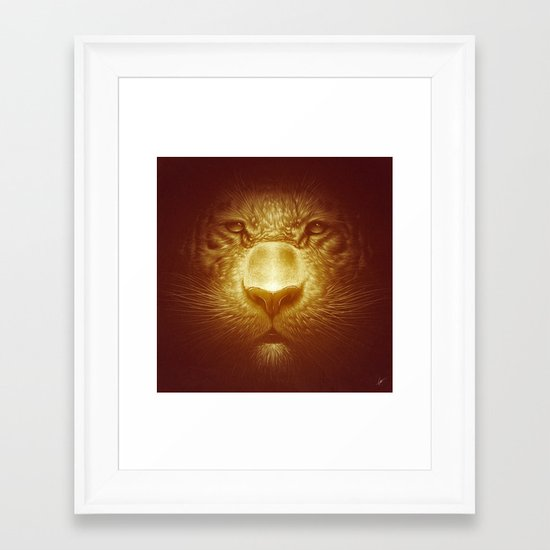 Gold Tiger Framed Art Print