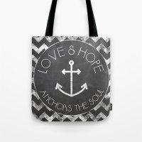 Chalkboard - Love And Ho… Tote Bag