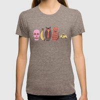 The Unusual Suspects Womens Fitted Tee Tri-Coffee SMALL