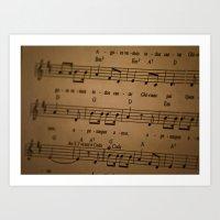 Music Tabs Art Print