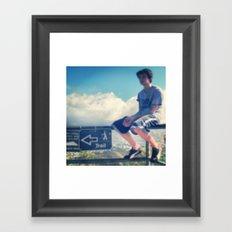 I'd Rather Sit On This Railing Framed Art Print