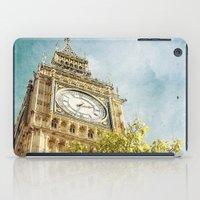 Clock Tower Behind Tree … iPad Case
