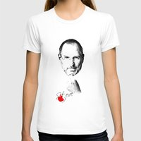 Steve Jobs Womens Fitted Tee White SMALL