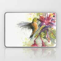Hummingbird and Fuchsia Watercolor Laptop & iPad Skin
